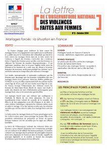 Mariages forcés, la situation en France
