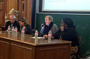 Avec Aïcha DABALE de Femmes Solidaires et Pierre FOLDES & Frédérique MARTZ de l'institut en Santé Génésique