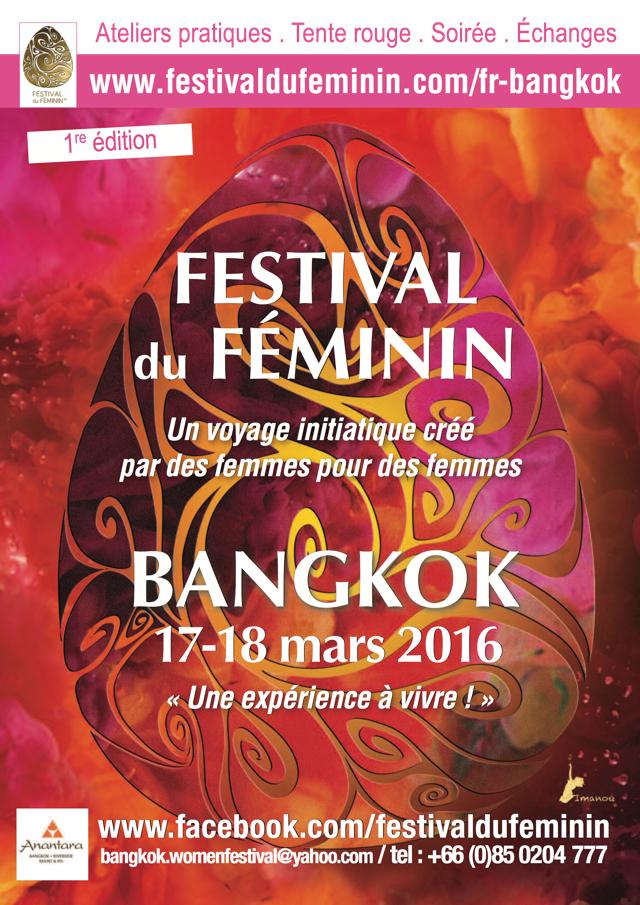 Festival du Féminin – Première Edition Bangkok, au profit du GAMS ! 17 au 18 mars 2016