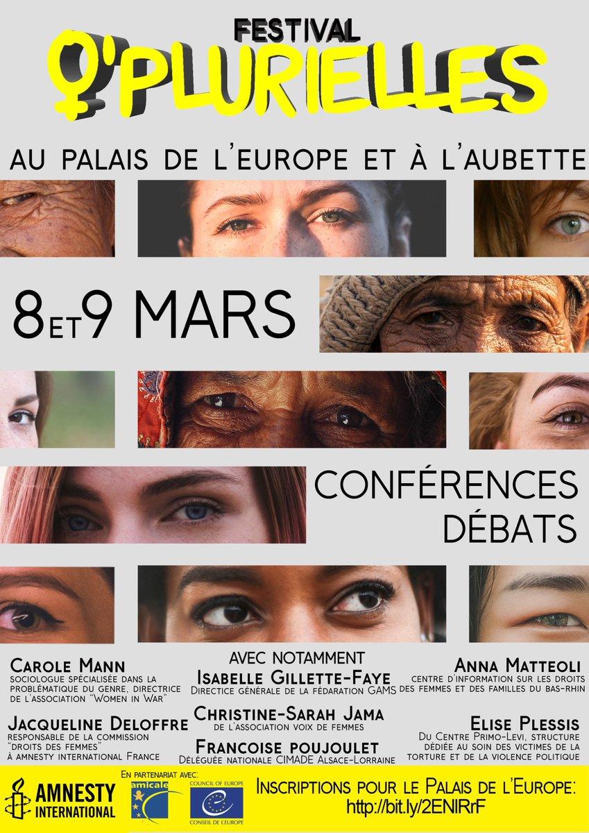"""Festival """"O'plurielles"""" Conseil de l'Europe le #8mars & Aubette le #9mars #Strasbourg"""