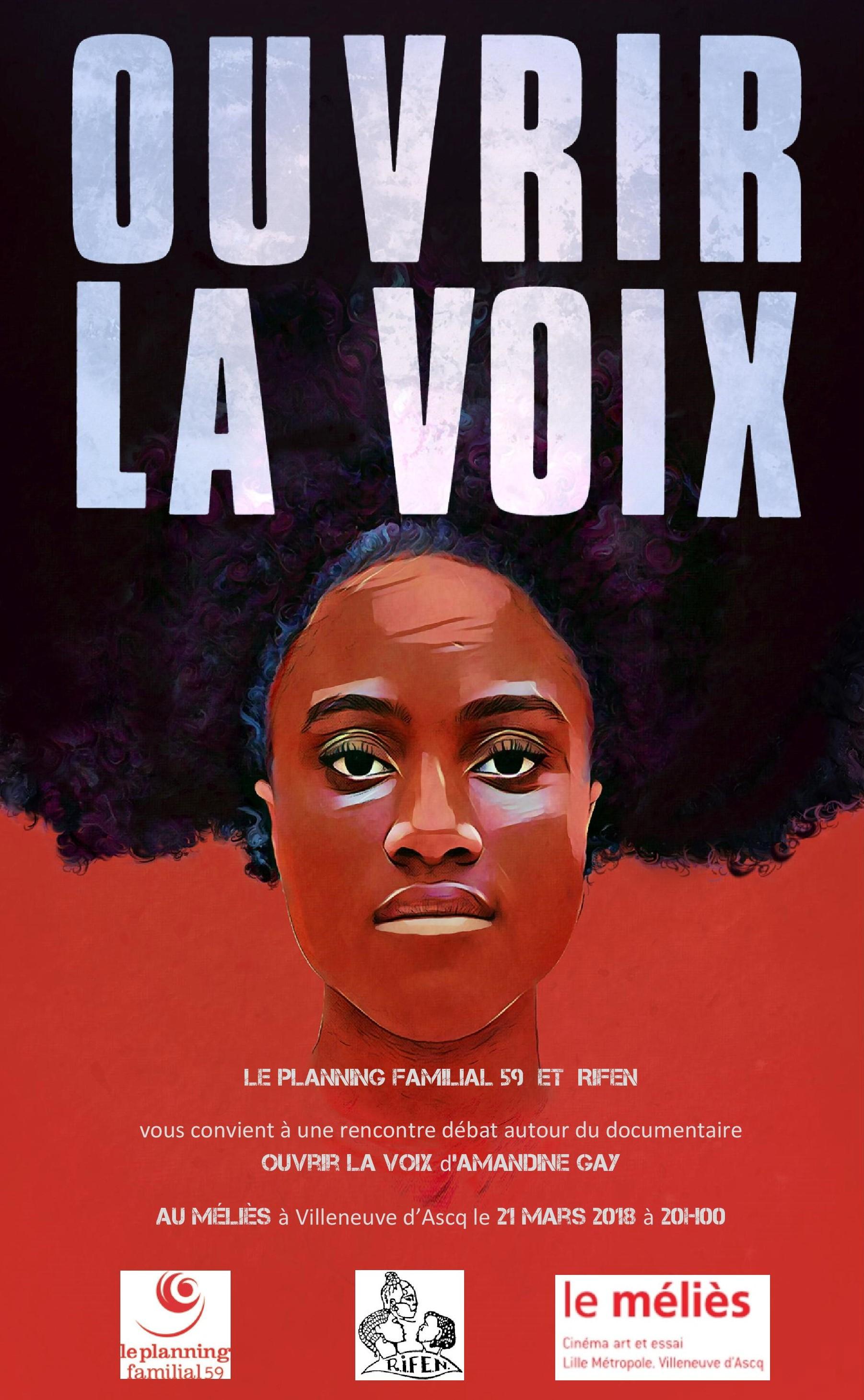 """""""Ouvrir la voix"""", un film d'Amandine GAY, Villeneuve d'Ascq, 21 mars, 20h00 #8marstoutelannée"""