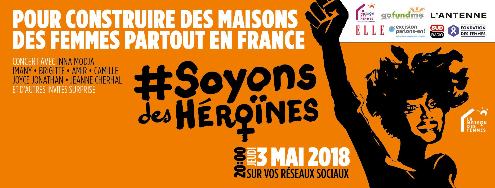 """Premier concert en live et connecté sur les réseaux sociaux, """"Le concert des Héroïnes"""" ❗ #3mai #20h00-23h00"""