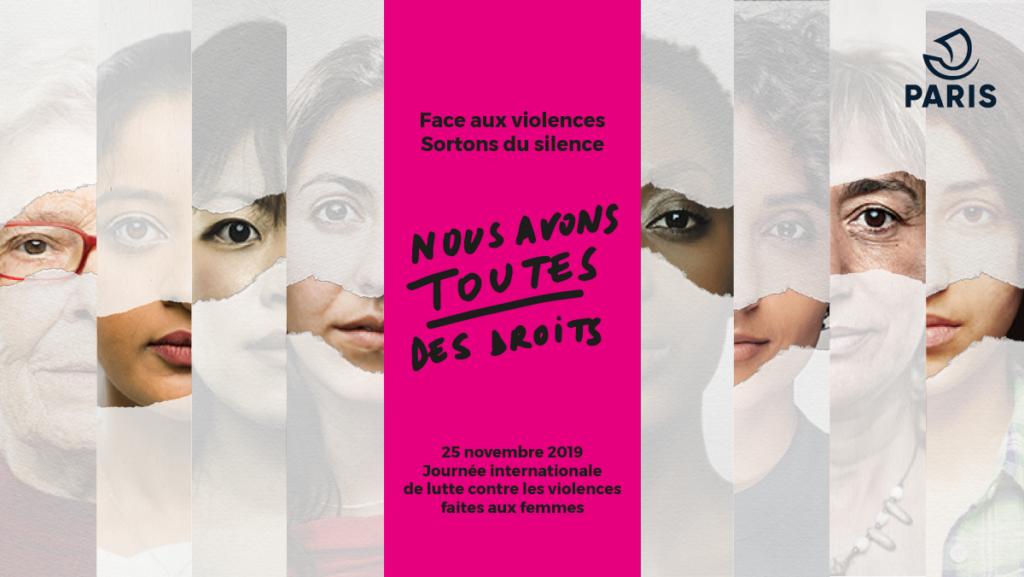 """""""Face aux violences, Sortons du silence, Nous Avons Toutes des Droits"""" – 25 novembre 2019"""